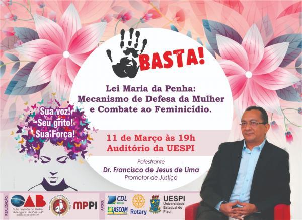 CDL/ASCOM e OAB-Oeiras promoverão palestra de conscientização e combate ao feminicídio