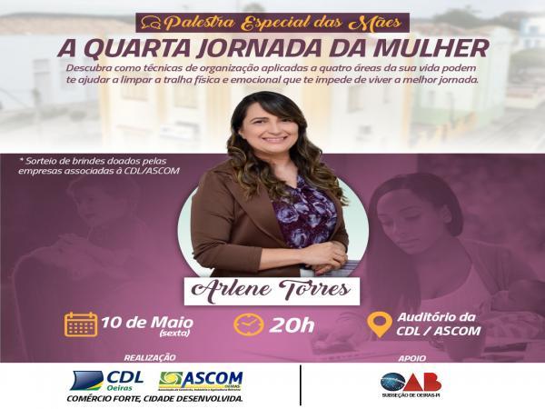 CDL/ASCOM realizará palestra especial das mães no dia 10 de maio com sorteios.