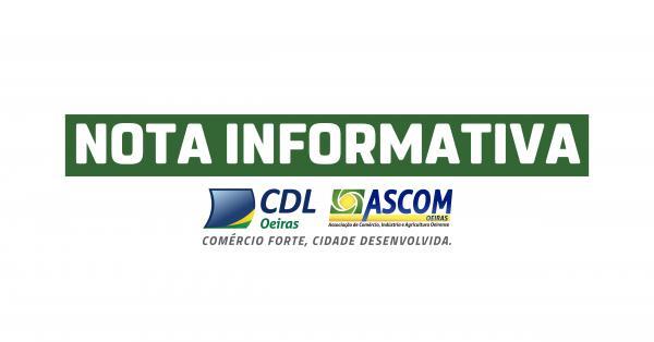 Nota Informativa - CDL/ASCOM